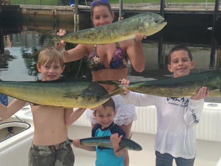 Family Dolphin Fishing